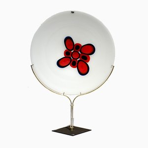 Siena Murano Glass Plate by Bruno Gambone for VeArt, 1970s