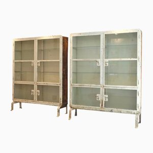 Riveted Medical Cabinets, Set of 2