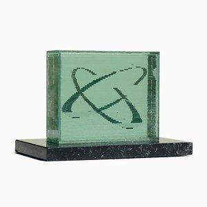 Skulptur aus Kristallglas von Ōki Izumi, 1995