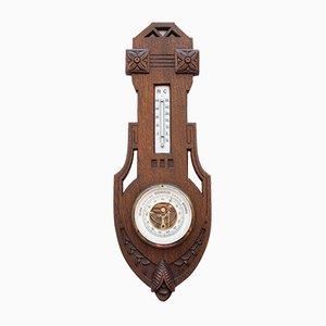 Barometro / termometro antico di Barometerfabrik HF Heinrich Froebel, Germania