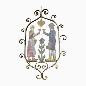 Antikes französisches Gasthausschild