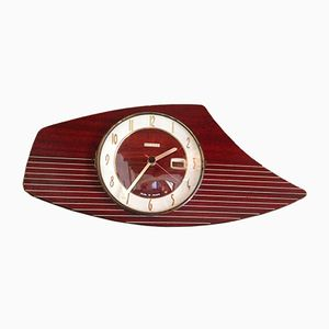 Mid-Century French Formica Wall Clock from Bayard