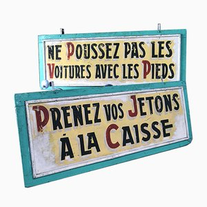 Set of French Carnival Signs, 1950s