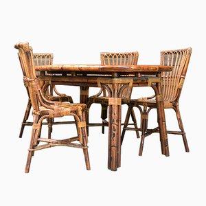 Juego de mesa y cuatro sillas de Francis Bonaudi para Vallauris, años 60