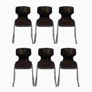 Chairs by Elmar Flötotto for Pagholz Flötotto, 1970s, Set of 6