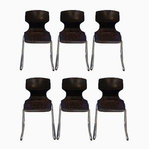 Stühle von Elmar Flötotto für Pagholz Flötotto, 1970er, 6er Set