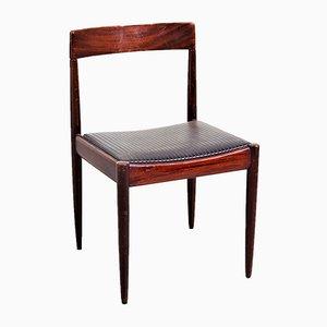 Chaise Vintage en Acajou et Palissandre de Lübke