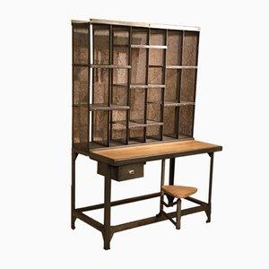 Industrieller Postsortier-Schreibtisch, 1950er