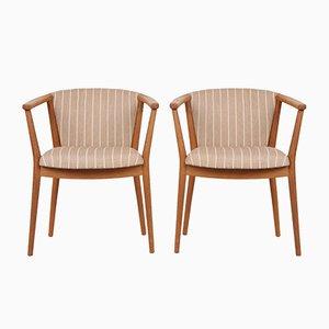 Vintage Armlehnstühle von Nanna & Jørgen Ditzel für Søren Willadsen Møbelfabrik, 2er Set