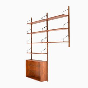 Small Vintage Royal System Shelving Unit in Teak by Poul Cadovius for Cado