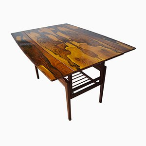Danish Height Adjustable Rosewood Table, 1960s