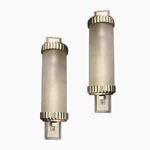 Französische Art Deco Wandlampen von Henri Petitot, 1930er, 2er Set
