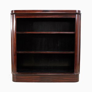 Art Deco Makassar Wood Bookcase, 1930s