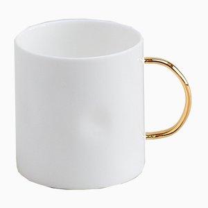 Kaffeebecher mit goldenem Griff von Feldspar