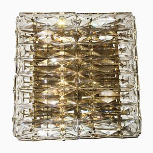 Facet Cut Glass and Brass Wall Light with 6 Lights from Kinkeldey, 1960s