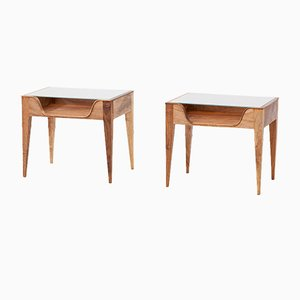 Italian Bedside Tables from Fratelli Strada, 1950s, Set of 2
