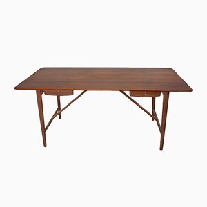 Scandinavian Modern Teak Desk by Peter Hvidt & Orla Mølgaard for Søborg, 1950s