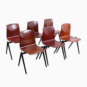 Vintage S 22 Pyramid Compass Chairs von Galvanitas, 6er Set