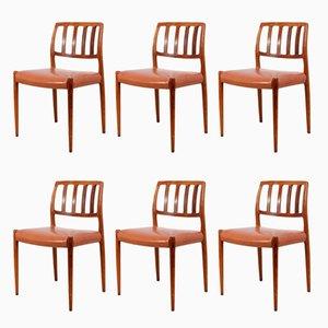 Modell 83 Esszimmerstühle aus Palisander von Niels Otto Møller, 1970er, 6er Set