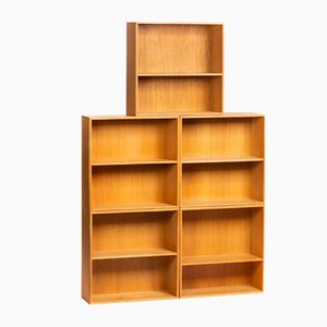 Vintage Oak Bookcases by Mogens Koch for Rud Rasmussen, Set of 5