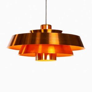 Nova Copper Pendant by Jo Hammerborg for Fog & Mørup, 1960s
