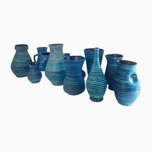 Gauloise Keramikvasen von Accolay, 1960er, 12er Set
