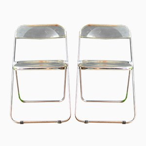 Plia Chairs by Giancarlo Piretti for Castelli, 1969, Set of 2