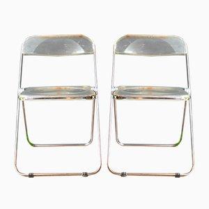 Plia Stühle von Giancarlo Piretti für Castelli, 1969, 2er Set