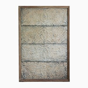 Rare Antique Indonesian Zinc Wall Covering, 1900s