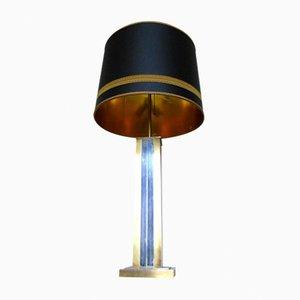 Lampe de Bureau en Laiton et Chrome par Gaetano Sciolari, 1960s