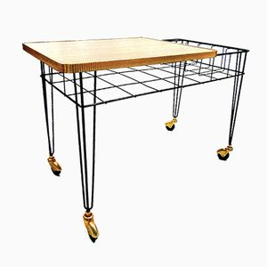 Mid-Century Metal & Wood Serving Trolley, 1960s