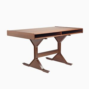 530 Walnut Desk by Gianfranco Frattini for Bernini, 1960s