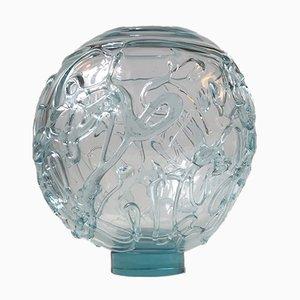 Vaso sferico in vetro artistico di Michael Bang per Holmegaard & Royal Copenhagen, 1995