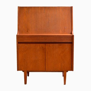 Secretaire Mid-Century in teak di Elliotts of Newbury, Inghilterra