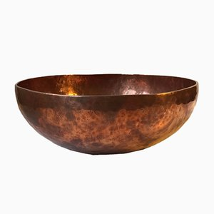 Hand-Hammered Copper Chö-Pa Bowl, 1970s