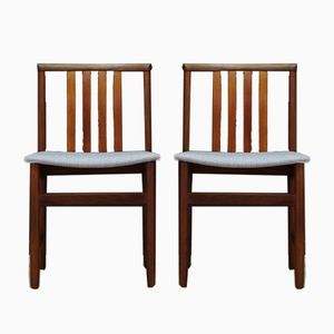 Chaises Vintage Scandinaves en Teck, Set de 2