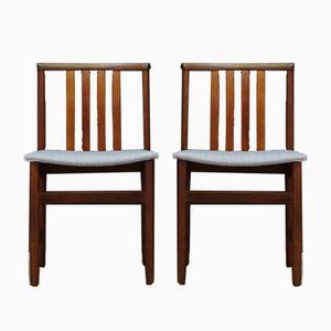 Vintage Scandinavian Teak Chairs, Set of 2