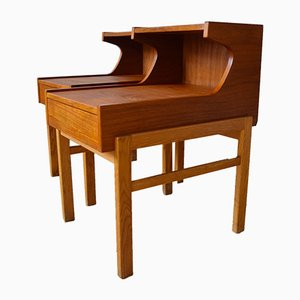 Tavolini ad incastro Mid-Century in teak, anni '60, set di 2