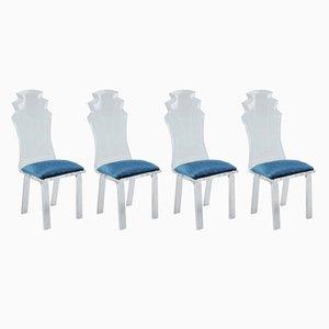 Stühle aus Plexiglas, 1970er, 4er Set