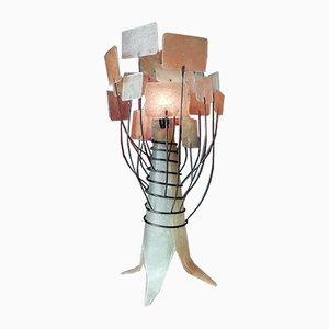 Lámpara de mesa experimental de fibra de vidrio, años 60