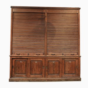 Large Office Filing Cabinet with Shutters, 1900s