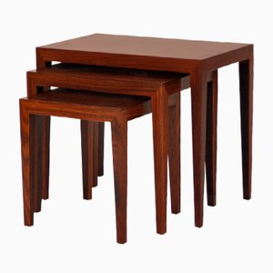 Tavolini ad incastro di Severin Hansen per Haslev Møbelsnedkeri, 1957