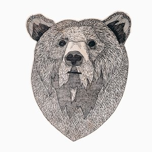Ilustración de pared Bear in the Wood de Jacob Pugh