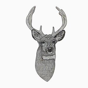 Deer in the Wood Wall Hanging by Jacob Pugh