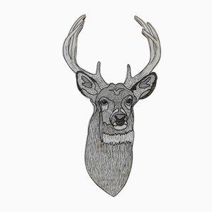 Deer in the Wood Wandbehang von Jacob Pugh