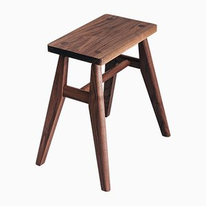 Stool in Walnut by Jacob Pugh
