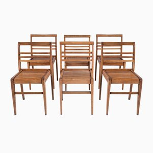 Mid-Century Dining Chairs by René Gabriel, 1950s, Set of 6