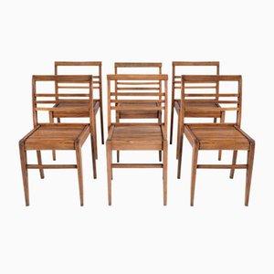 Sedie da pranzo Mid-Century di René Gabriel, anni '50, set di 6