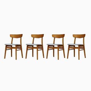 Dänische Esszimmerstühle, 1960er, 4er Set