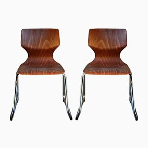 Mid-Century Stools by Adam Stegner for Pagholz Flötotto, 1960s, Set of 2